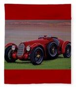 Alfa Romeo 8c 2900a Botticella Spider 1936 Painting Fleece Blanket