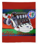 Alfa Romeo Indy Engine Fleece Blanket