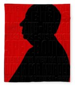 Alfred Hitchcock Fleece Blanket