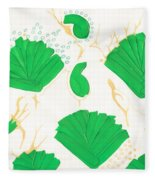 Algae Blooms Fleece Blanket