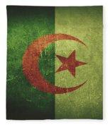 Algeria Distressed Flag Dehner Fleece Blanket