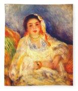 Algerian Woman Seated 1882 Fleece Blanket