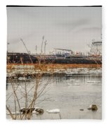 Algoma Hansa Blue Water River Walk Fleece Blanket