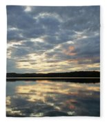 Algonquin Lake Sunset Fleece Blanket
