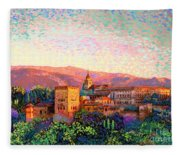 Alhambra, Granada, Spain Fleece Blanket