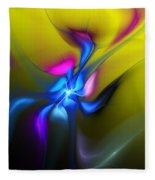 Alien Flower 2 Fleece Blanket