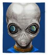 Alien From Space Fleece Blanket