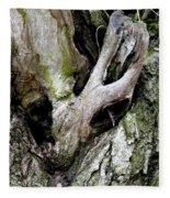 Alien In The Tree Fleece Blanket