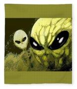 Alien Invasion Fleece Blanket