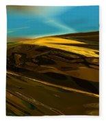Alien Landscape 2-28-09 Fleece Blanket