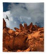 Alien Landscape Valley Of Fire Fleece Blanket
