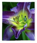 Alien On Flower Fleece Blanket
