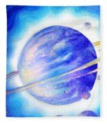 Alien Planet. Blue Light Of Hope Fleece Blanket