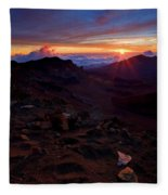 Alien Sunrise Fleece Blanket