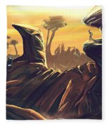 Alien Territory Fleece Blanket