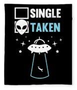 Alien Ufo Single Gift Fleece Blanket