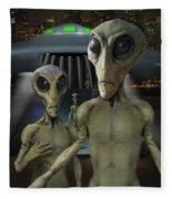 Alien Vacation - The Arrival  Fleece Blanket