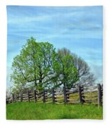All Fenced In Along The Blue Ridge Parkway Fleece Blanket