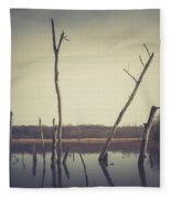 All Is Calm At Green Bottom Fleece Blanket