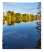 All Is Quiet On The River Fleece Blanket