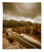 All Roads Lead To Adventure Fleece Blanket