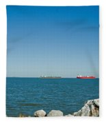 All Ships At Sea Fleece Blanket