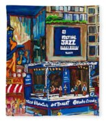 All That Jazz Fleece Blanket