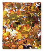 All The Leaves Are Red And Orange Fall Foliage With Sunshine Fleece Blanket