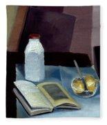 Alla Prima Still Life Study 1977 Fleece Blanket