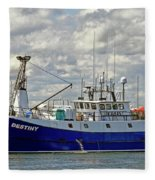 Cloudy Day On The Marina Fleece Blanket