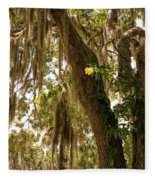 Allamanda And Oak Tree Fleece Blanket