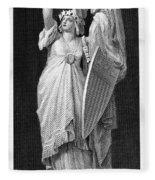 Allegory: Columbia, 1870 Fleece Blanket