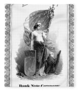 Allegory: Columbia, C1870 Fleece Blanket