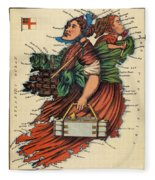 Allegory Of Ireland Fleece Blanket