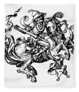 Allegory Of Saturn, 1480 Fleece Blanket