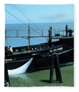 Allen Cody Of The Del Monte Fishing Co. And A Fin Whale 1967 Fleece Blanket
