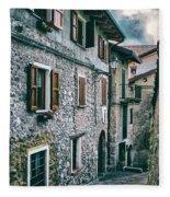 Alley In An Alpine Village #1 Fleece Blanket