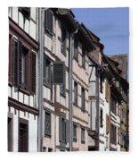Alley In La Petite France Fleece Blanket