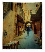 Alley Of Old Sidon Fleece Blanket