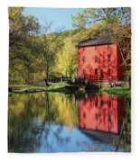 Alley Spring Mill Reflection Fleece Blanket