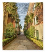 Alleyway In Chaleston Fleece Blanket
