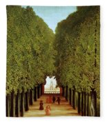 Alleyway In The Park Fleece Blanket