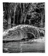 Alligator Bags Of Port Aransas Fleece Blanket