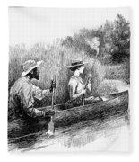 Alligator Hunt, 1888 Fleece Blanket