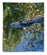 Alligator Stalking Fleece Blanket