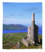 Allihies, Co Cork, Ireland Old Mine Fleece Blanket
