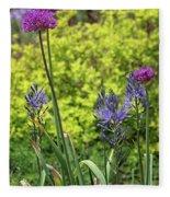 Allium And Camassia Fleece Blanket