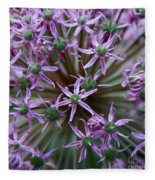 Allium Macro Fleece Blanket