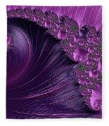Alluring Purple Spiral Fleece Blanket