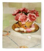 Almond Blossom Tea Fleece Blanket